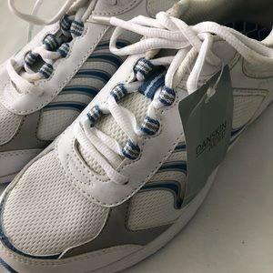 Woman's danskin white athletic sneakers